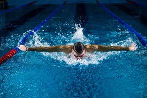 Swimming is a lot of fun