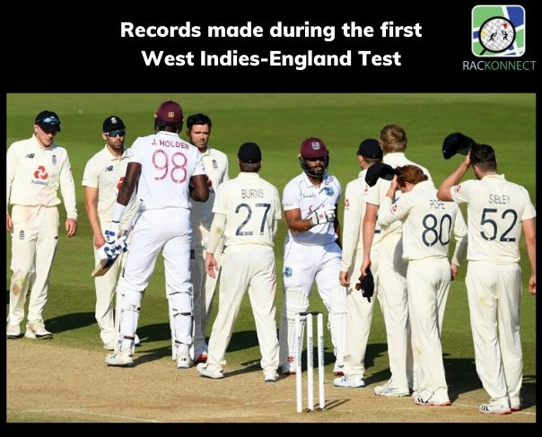 Records made during the first West Indies-England Test